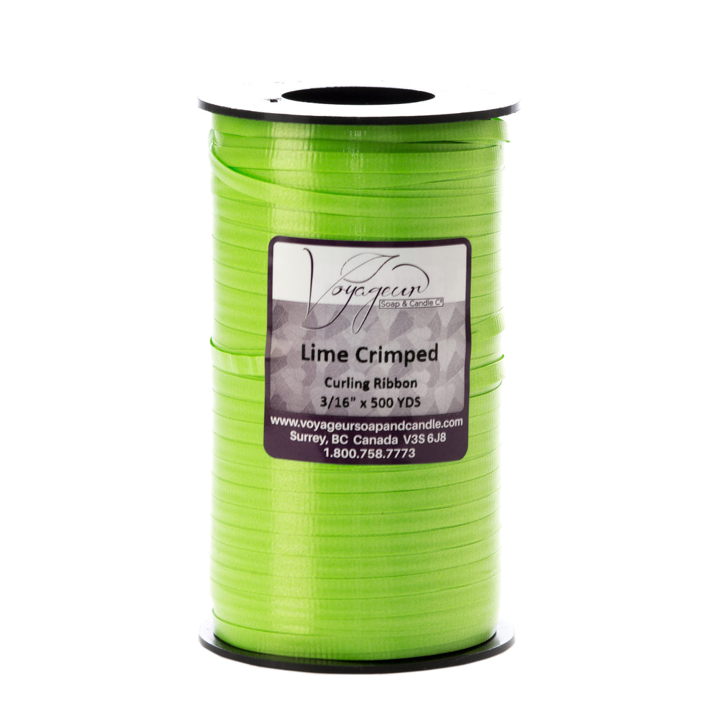 Lime Green Crimped Curling Ribbon