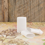 White Oval Stick Container - 10 grams / 0.35 oz