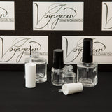 15 ml Beveled Square Nail Polish Bottle with Brush and White Cap