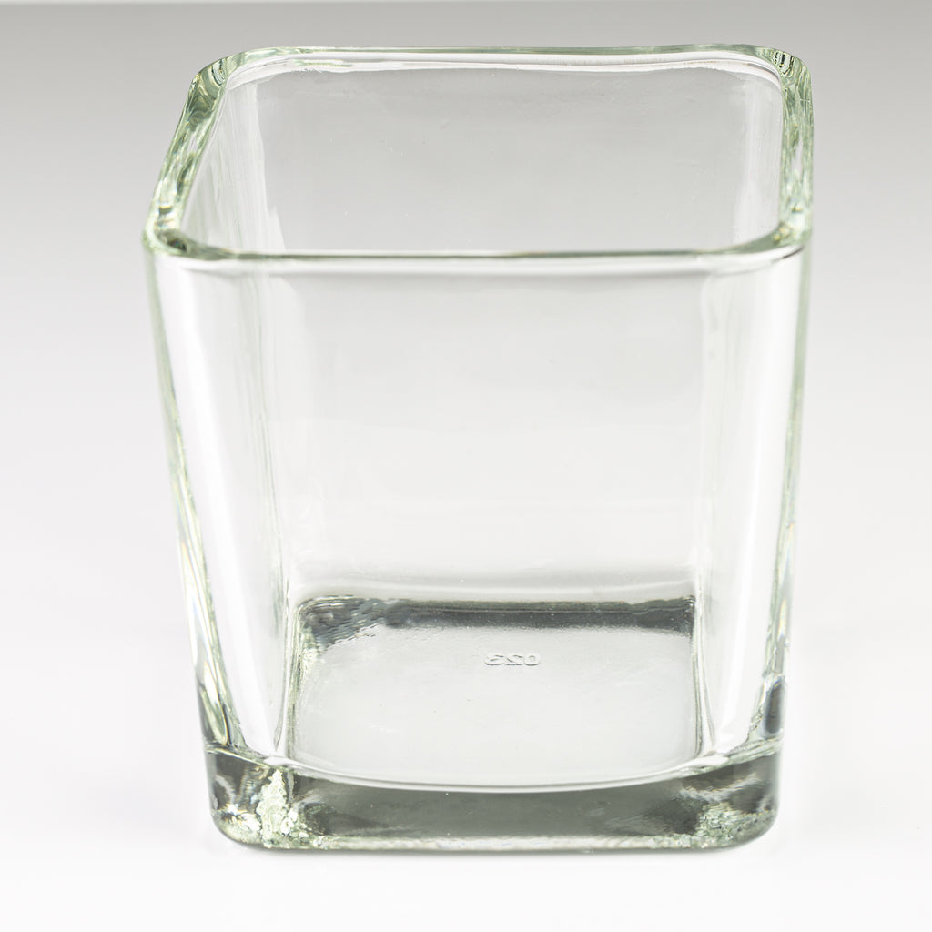 "Square Candle Glass 4"" x 4"""