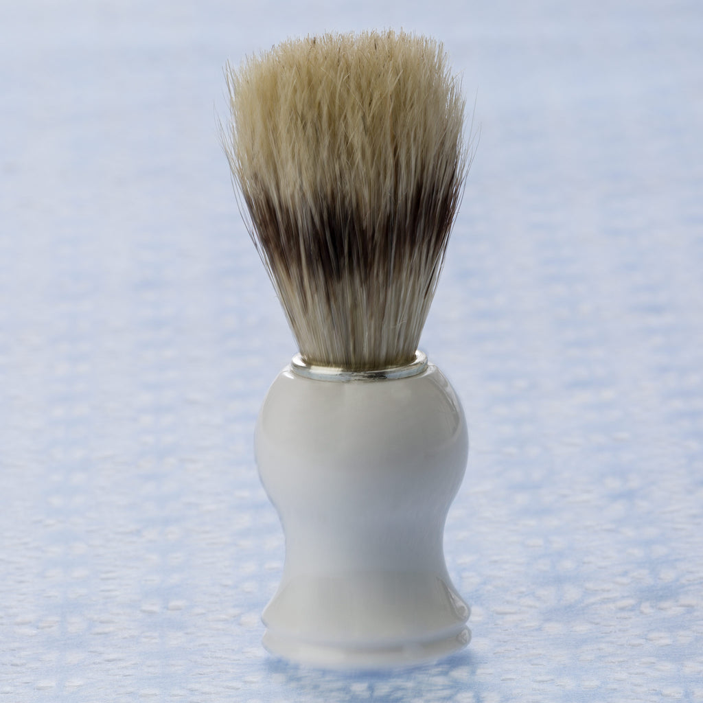 Shaving Brush - White Handle