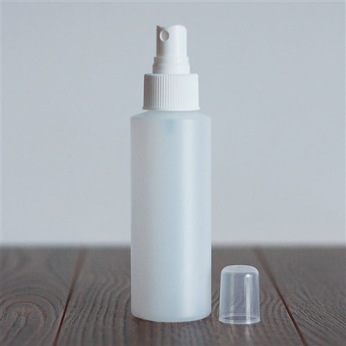 120 ml Natural HDPE Cylinder with Mister - White