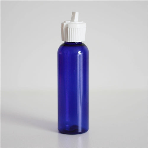 2 oz Blue PET Bullet with White Turret Cap