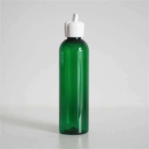 4 oz Green PET Bullet with White Turret Cap