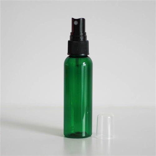 2 oz Green PET Bullet with Mister - Black