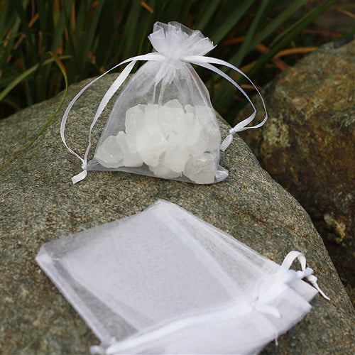 "3"" x 4"" Organza Bag - Snow White"