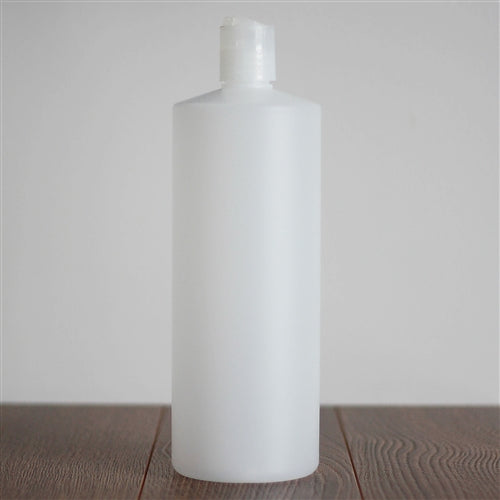 Natural HDPE Cylinder with Disc Cap - Natural 1 Litre