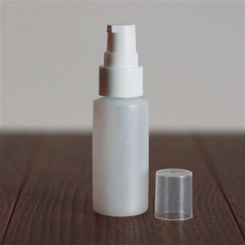 *30 ml Natural Cylinder with Treatment Pump - White