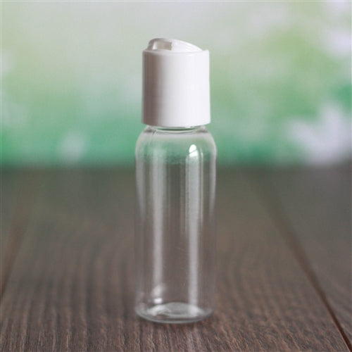 1 oz Clear Bullet with Disc Cap - White