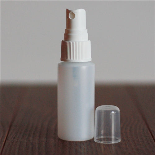 *30 ml Natural Cylinder with Mister - White