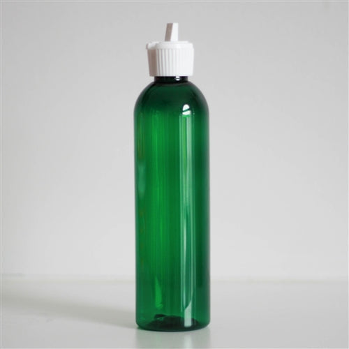 8 oz Green PET Bullet with White Turret Cap