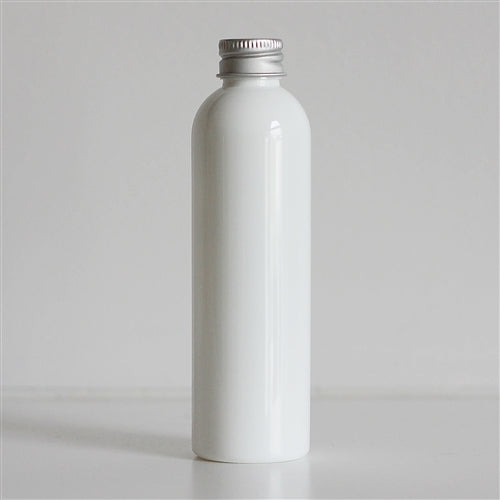 4 oz White Bullet Bottle with Aluminum Cap