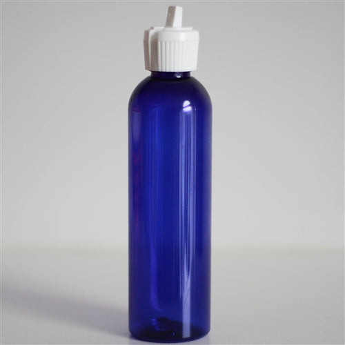 4 oz Blue PET Bullet with White Turret Cap