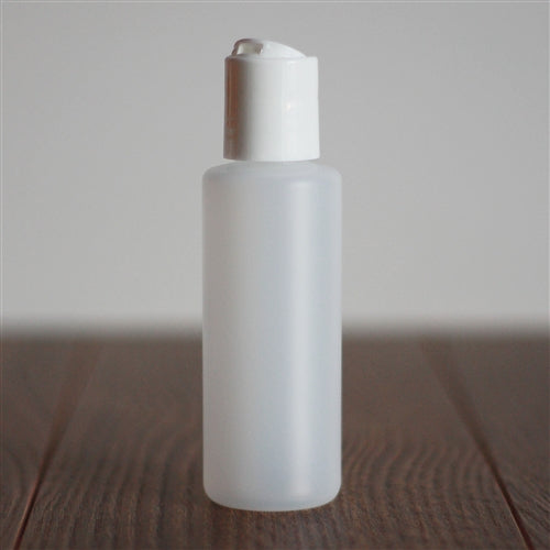 *60 ml Natural HDPE Cylinder with Disc Cap - White