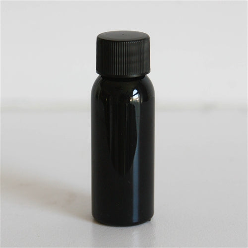1 oz Black Bullet with Black Ribbed Cap