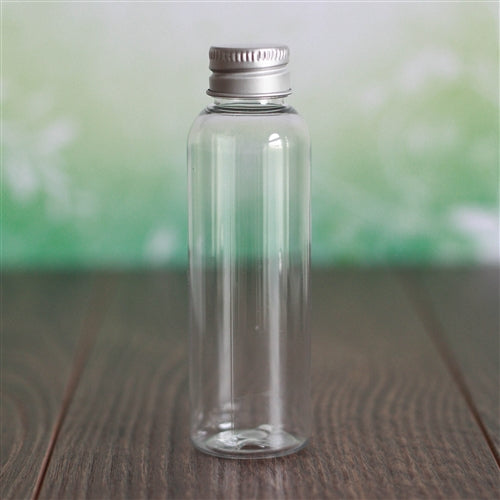 2 oz Clear PET Bullet with Aluminum Cap
