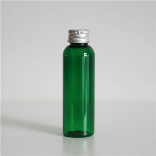 2 oz Green PET Bullet with Aluminum Cap