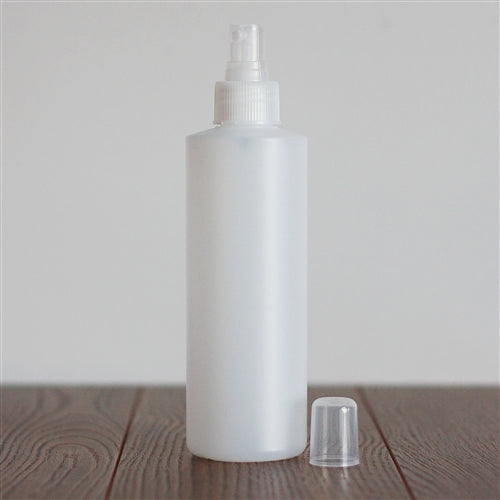 250 ml Natural HDPE Cylinder with Mister - Natural