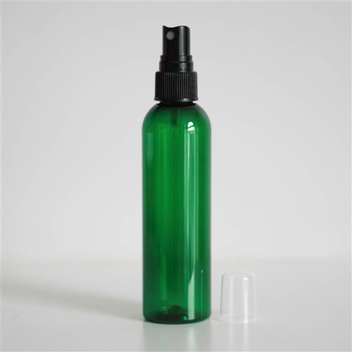 8 oz Green PET Bullet with Mister - Black