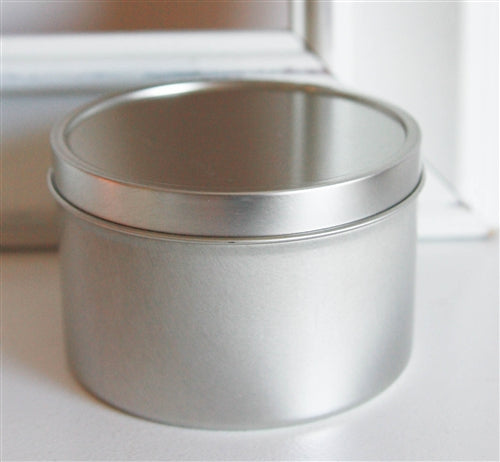Deep Seamless Metal Tins / 8oz