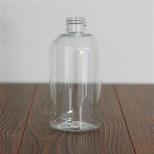 8 oz Clear PET Boston Round Without Closure