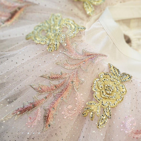 Hand-stitched embellishments by designer Kevin Kreisz of Kiki Kouture. Photo by Amy Brandt.