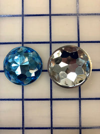 Decorative Gems - 1.5-inch Round Sew-On Gems Light Sapphire 3-Pack SPECIAL PURCHASE!