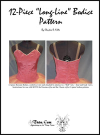 Pattern Download - Ballet Bodice 12 Piece Russian Design