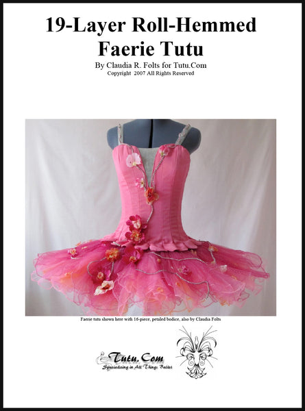 Download - 19 Layer Roll Hemmed Faerie Tutu Instructions