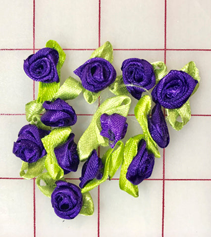 Flowers - Ribbon Rose Flowers Dark Purple