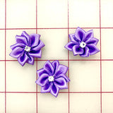 Flowers - Satin Rhinestone Flower 3-Pack Lavender
