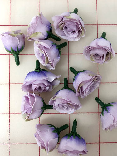 Flowers - Small Rosebuds Lilac Purple