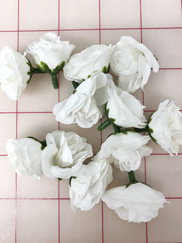 Flowers - Small Rosebuds White