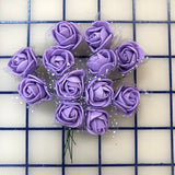 Flowers - Small Rosebuds Lilac 12-Pack