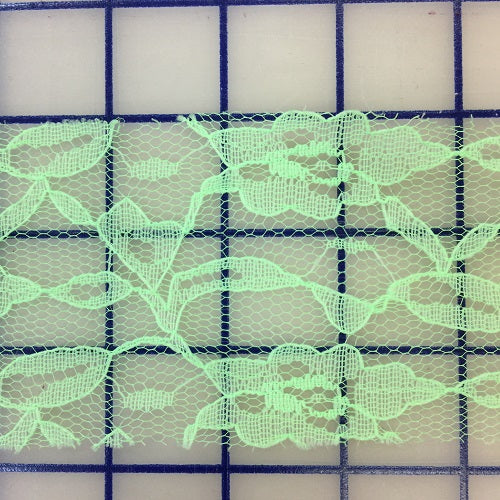 Lace Trim - 2.5-inch Bright Green