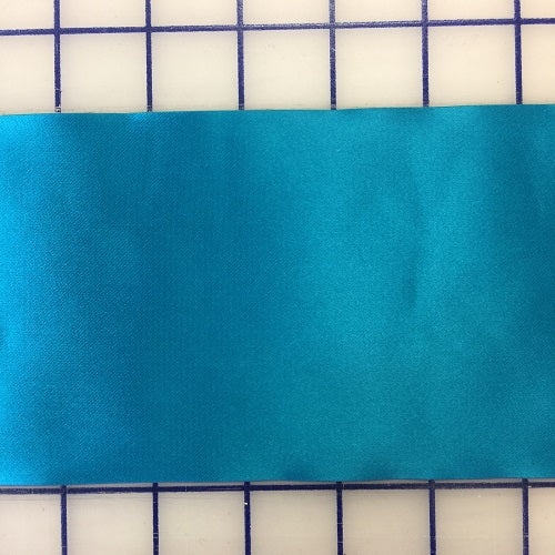 Single Face Satin Ribbon - 4-inch Turquoise