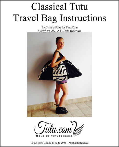 Pattern Download - Classical Tutu Bag Pattern with Instructions