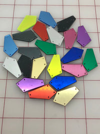 Decorative Gem - Multi-Color Acrylic Mirror Sew-On Flat Backs