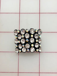 Button - Crystal and Crystal AB Rhinestones