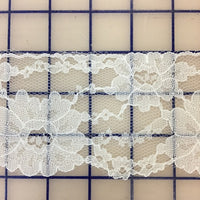Lace Trim - 3-inch Scalloped Lace White