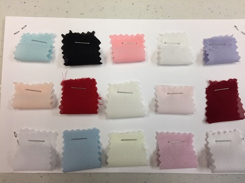 Sample Card: Polyester Double Georgette