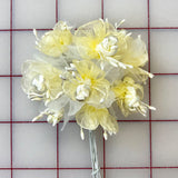 Flowers - Organza Flowers Pale Yellow