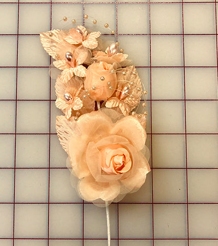Flowers - Roses with Pearls Peach