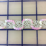 Sequin Trim - 1/2-inch Sequin Iridescent White