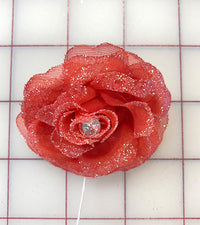 Flowers - Rose Red with Glitter