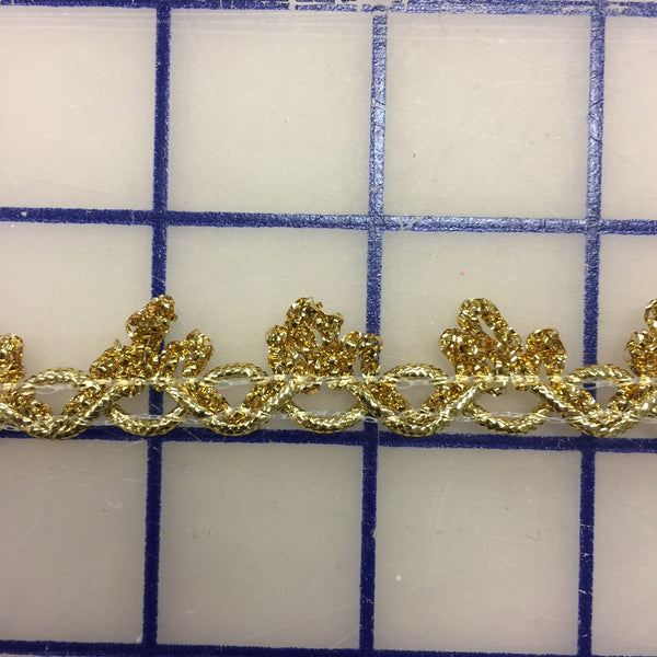Metallic Trim - 3/8-inch Gold Picot Edge
