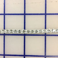 Rhinestone Trim - 1-Row Pointed-Back Czech 20ss Banding Crystal