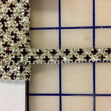 Rhinestone Banding - Czech 2-Row Amethyst and Crystal