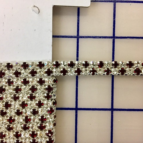 Rhinestone Banding - Czech 2-Row Siam and Crystal