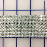 Rhinestone Trim - Czech 8-Row Rhinestone Banding Crystal Close-Out